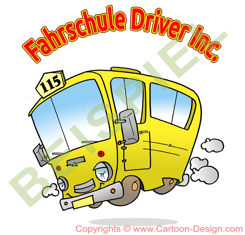 Bus Logo für Fahrschule - Logo Service ohne Vorlagen