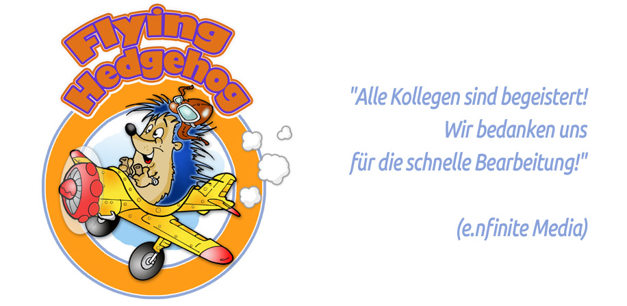 Lustiges Logo - Flying Hedgehog